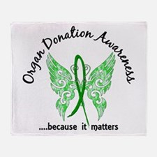 Organ Donation Butterfly 6.1 Throw Blanket