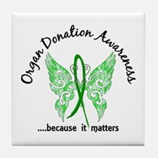 Organ Donation Butterfly 6.1 Tile Coaster