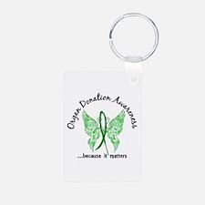 Organ Donation Butterfly 6 Aluminum Photo Keychain