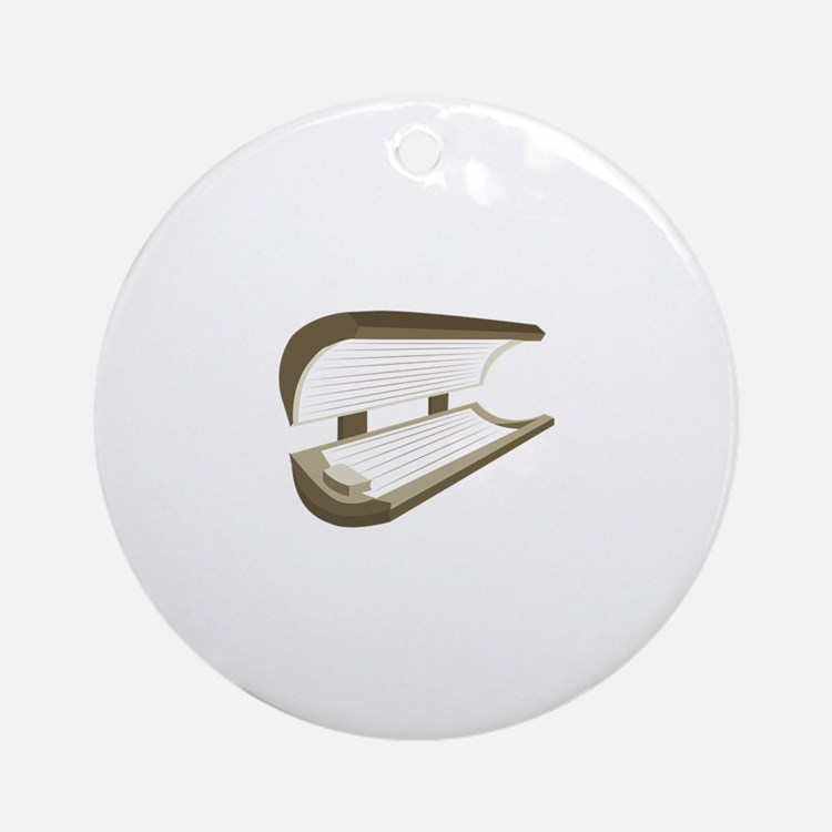 Tanning Bed Ornament (Round)