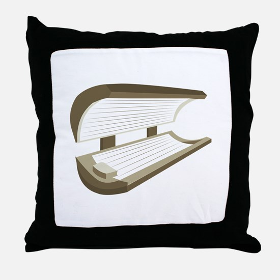 Tanning Bed Throw Pillow