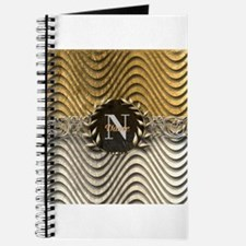Wavy Sq Gold Platinum Monogram Journal