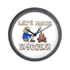 Lets Make SMORES! Wall Clock