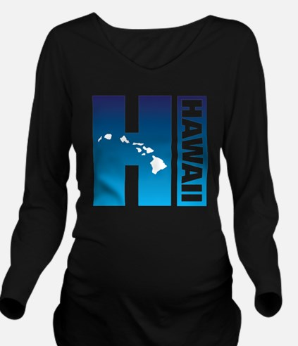 Funny Hawaii baseball Long Sleeve Maternity T-Shirt