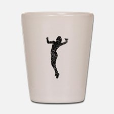 Distressed Volleyball Serve Silhouette Shot Glass