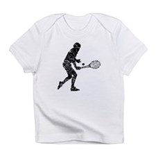 Distressed Tennis Player Silhouette Infant T-Shirt