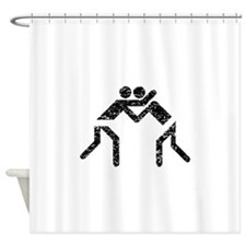 Distressed Wrestling Shower Curtain