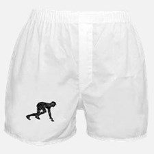 Distressed Runner Crouched Boxer Shorts