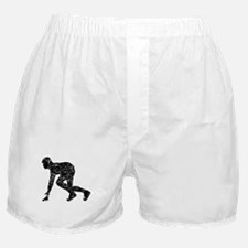 Distressed Runner At Start Line Boxer Shorts