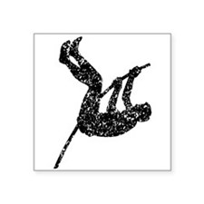 Distressed Pole Vaulter Silhouette Sticker