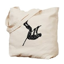 Distressed Pole Vaulter Silhouette Tote Bag