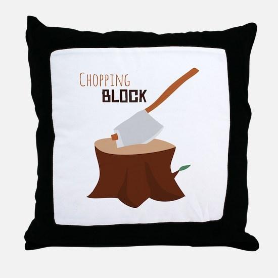 Chopping Block Throw Pillow