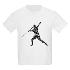 Distressed Javelin Throw Silhouette T-Shirt