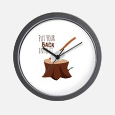 Back Into It Wall Clock