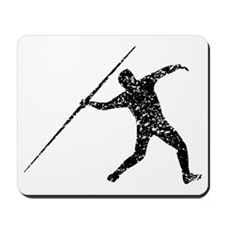 Distressed Javelin Throw Silhouette Mousepad