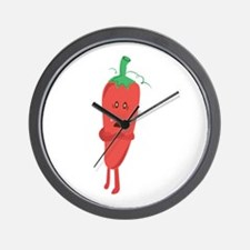 Silly Pepper Wall Clock