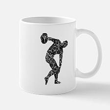 Distressed Discus Throw Silhouette Mugs