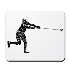 Distressed Hammer Throw Silhouette Mousepad