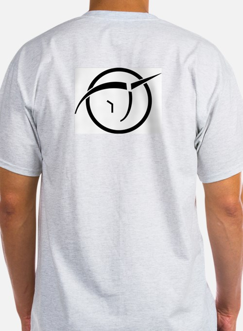 T-Shirt with Invisible Pink Unicorn logo