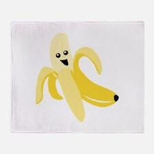 Silly Banana Throw Blanket