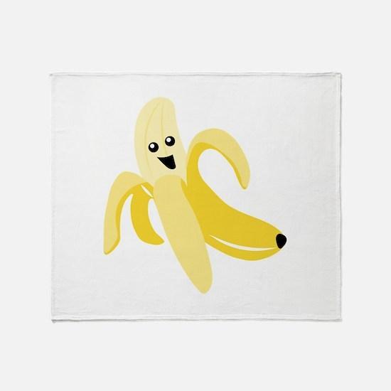 Silly Banana Throw Blanket