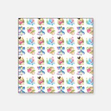 "BIRDS & BUTTERFLIES Square Sticker 3"" x 3"""