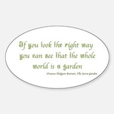 The Secret Garden Quote Decal