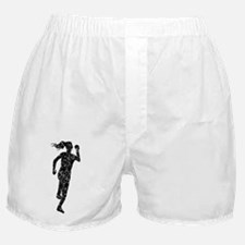 Distressed Runner Silhouette Boxer Shorts