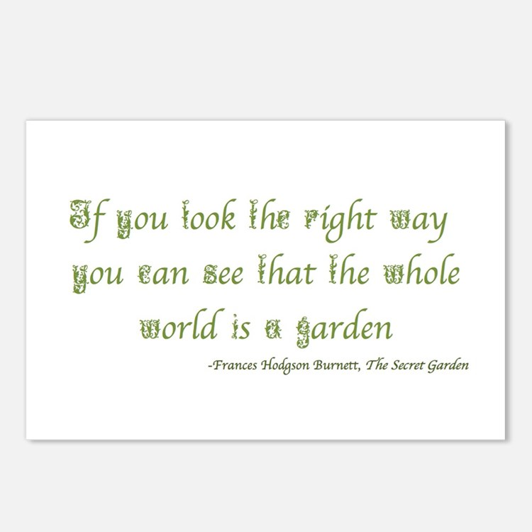The Secret Garden Quote Postcards (Package of 8)