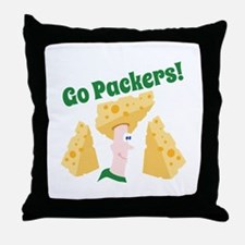 Go Packers Throw Pillow