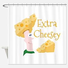 Extra Cheesy Shower Curtain