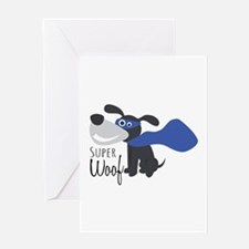 Super Woof Greeting Cards