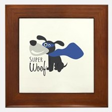 Super Woof Framed Tile