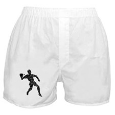 Distressed Racquetball Player Silhouette Boxer Sho