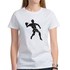 Distressed Racquetball Player Silhouette T-Shirt