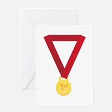 1st Place Medal Greeting Cards