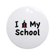 My School Ornament (Round)