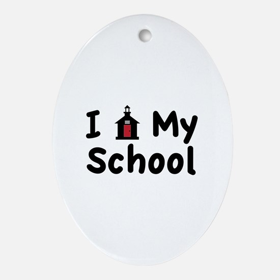 My School Ornament (Oval)