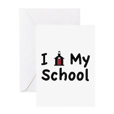 My School Greeting Cards