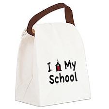 My School Canvas Lunch Bag