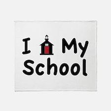 My School Throw Blanket