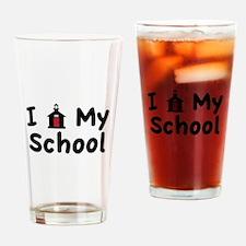 My School Drinking Glass