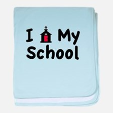 My School baby blanket