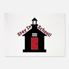 Stay In School 5'x7'Area Rug