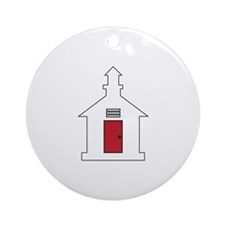 School House Ornament (Round)