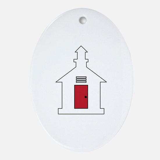 School House Ornament (Oval)