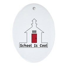 School Is Cool Ornament (Oval)