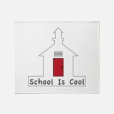 School Is Cool Throw Blanket