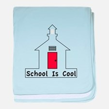 School Is Cool baby blanket