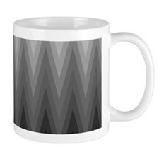 Ombre Black to Grey Chevron Pattern Mugs